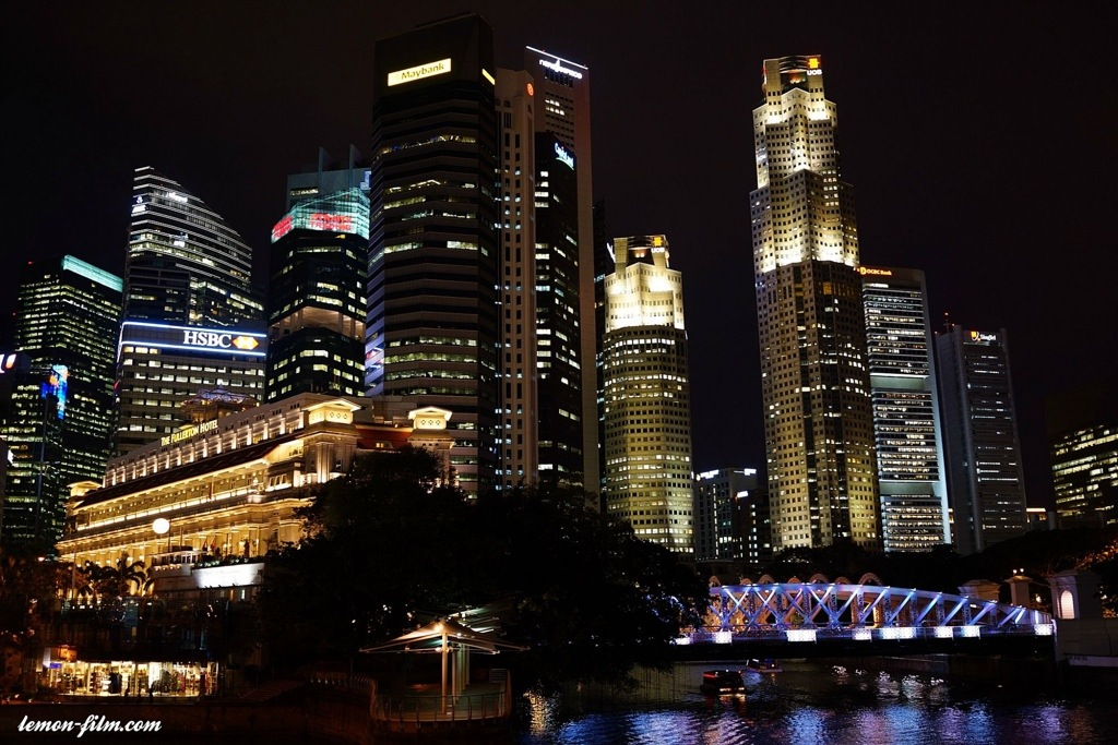 Night Photography At Singapore River