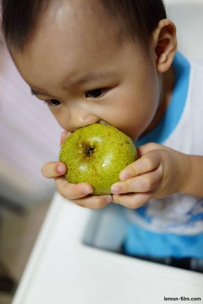 Grabbing My 1st Pear
