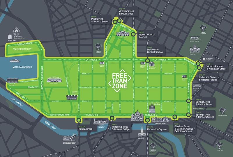 Free Tram Zone In Melbourne City
