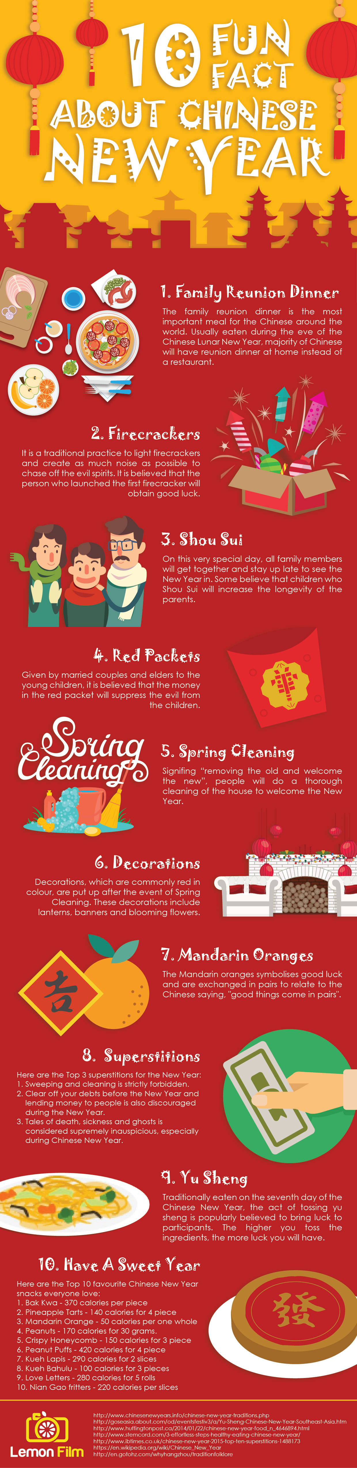 10 Fun Facts About Chinese New Year (Infographic) - Lemon Film